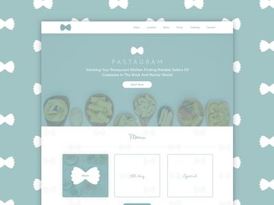 PastaGram custom design wordpres boostrap responsive pasta simple design dekstop web deisgn layoutdesign web desgin pastagram