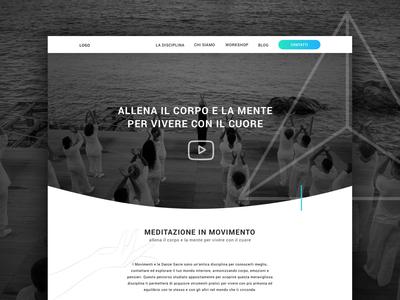 Simple Yoga and b&w Header design responsive ios layout web html landing sketch web design webdesign ui ux boostrap layout illustration