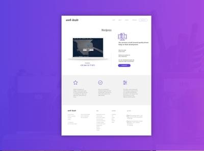 Page details wordpress ux html vector ui boostrap violet web agency desktop minimal responsive sketch layoutdesign webdesign