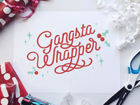 Holiday Pun type illustration typography lettering art hand lettering