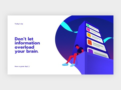 Too Many Information sketch photoshop neon colorful quote website illustration
