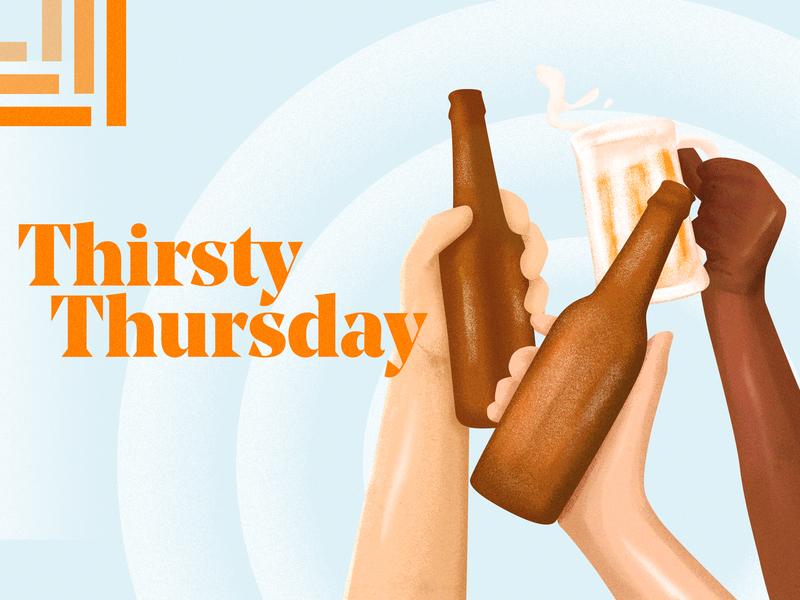 Thirsty Thursday thursday beer poster illustration