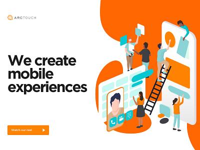 ArcTouch's Illustration mobile app design mobile app development mobile app web diversity isometric mobile illustration