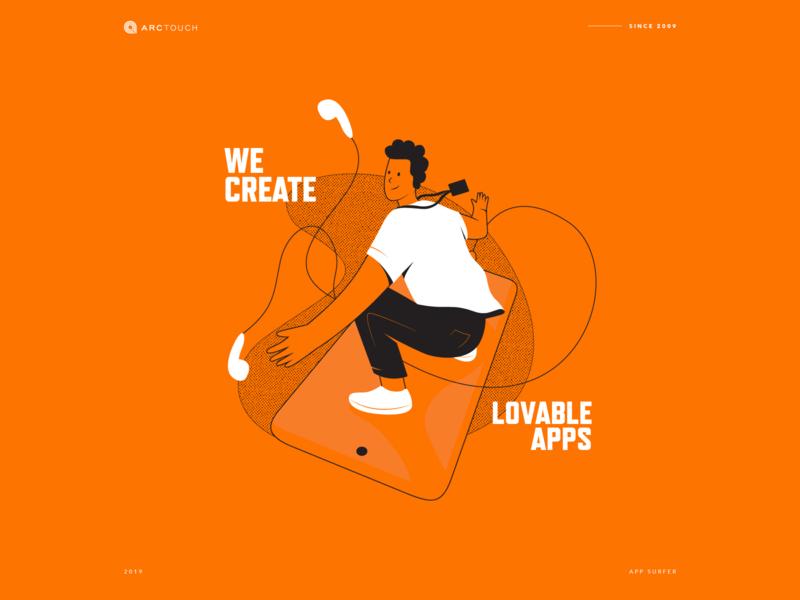 We Create Lovable Apps app branding illustration