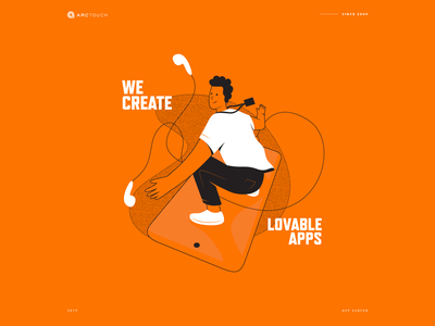 We Create Lovable Apps app branding illustration