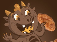 Cereal Characters: Crispy the Dragon