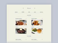 Daily Ui 043 Food/Drink Menu
