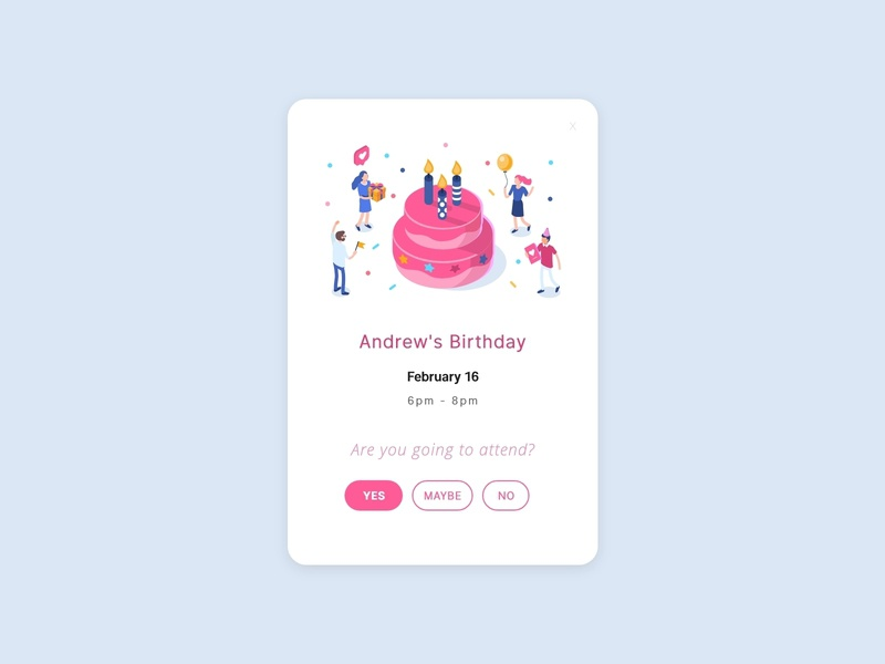 Daily Ui 078 Pending Invitation party event attend party birthday pending invitation pending invitation card invitation daily 078 ui dailyui