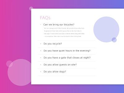 Daily Ui 092 FAQ dailyui 092 web faqs faq website app ui dailyui