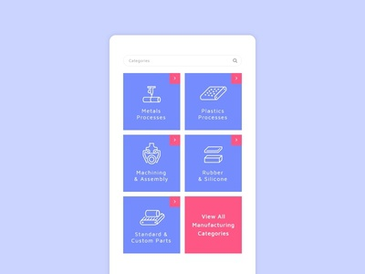 Daily Ui 099 Categories