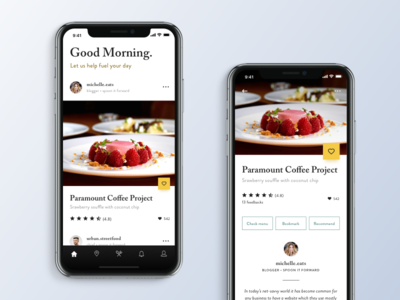 Restaurant Reviewer App serif iphonex ios app delivery restaurant food uiux ux ui