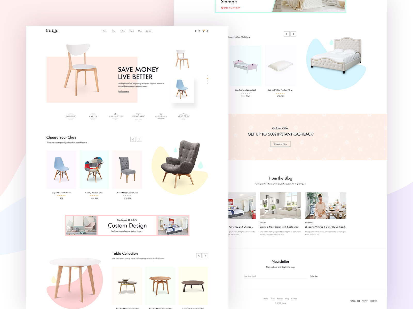 Kable - eCommerce Theme by H Moni on Dribbble