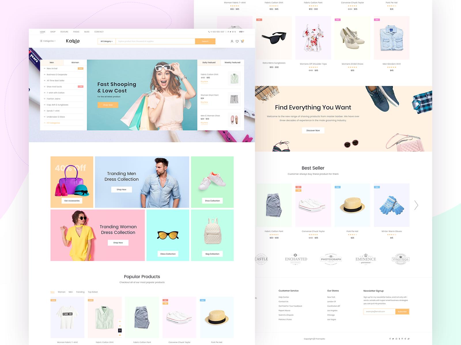 Kable eCommerce Theme Fashion by H Moni on Dribbble