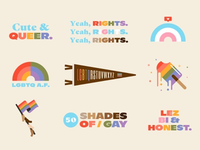 50 Shades of Gay gay pride transgender trans lives matter black lives matter blm retro pride pride 2020 florida type vintage illustration typography st pete tampa lgbtq lgbt gay
