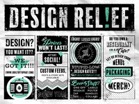 Design Relief classifieds texture monoline covid-19 pittsburgh tampa st pete beer newspaper cartoon retro vintage typography type lockups lockup