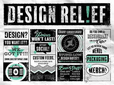 Design Relief classifieds texture monoline covid-19 pittsburgh tampa st pete beer newspaper cartoon retro vintage typography type lockups lockup