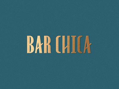 Bar Chica sexy spanish speakeasy cocktail cuban cuba geometric art deco gold foil retro logotype branding texture florida type vintage typography st pete tampa