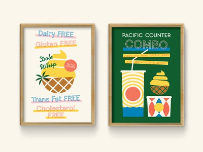 Good Vibes Only pt. 2 poke coconut lockup california hawaii pacific dole whip palm tree retro design geometric type florida illustration vintage typography st pete tampa