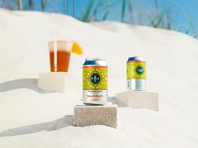 Southlight dribbble citrus monoline pattern fish photoshoot beach beer can ipa beer packaging package design branding florida illustration st pete