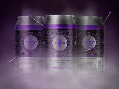 Moodoo Voodoo monoline illustration nautical dribbble pattern spooky pompano beach florida voodoo doll brewery package design packaging beer witchcraft new orleans voodoo