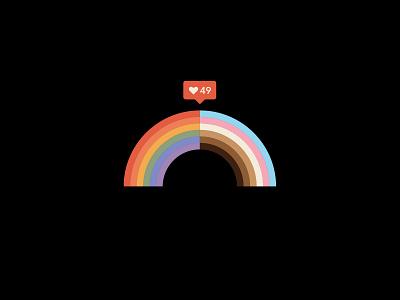 Orlando Pulse Tribute community pride 2021 lgbtq community florida st pete tampa love minimal illustration pride rainbow lgbtq lgbt pulse orlando