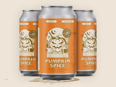 Pumpkin Spice Jitters witch espresso coffee vintage illustration can design october imperial ale beer can beer package design seasonal fall halloween spooky florida pumpkin spice pumpkin