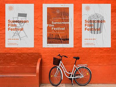 SSFF Poster Concepts st pete screen print skyline festival vintage cinema florida illustration monoline sunshine film sunscreen