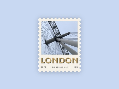 Love from London chilly illustration drop shadow history typography logotype type icon travel postage stamp overcast carnival ferris wheel city sights city london eye london