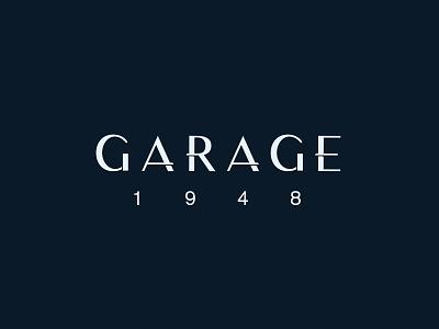 Garage 1948 shadow navy st pete tampa sleek elegant vintage logotype logo typography type vintage car car premium garage