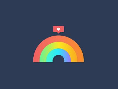Tampa Pride instagram color rainbow florida modern icon gay pride illustration st pete tampa bay tampa lgbtq gay pride
