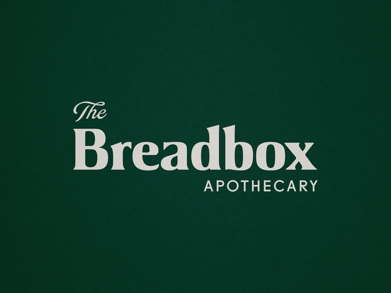 The Breadbox Apothecary bread organic logo biology science apothecary natural health tonic texture logo vintage branding tampa typography type organic logotype