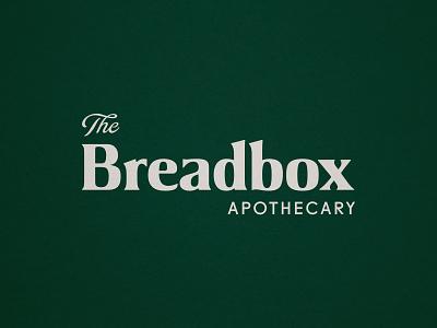 The Breadbox Apothecary bread organic logo biology science apothecary natural health tonic texture logo vintage branding tampa typography type organic logotype