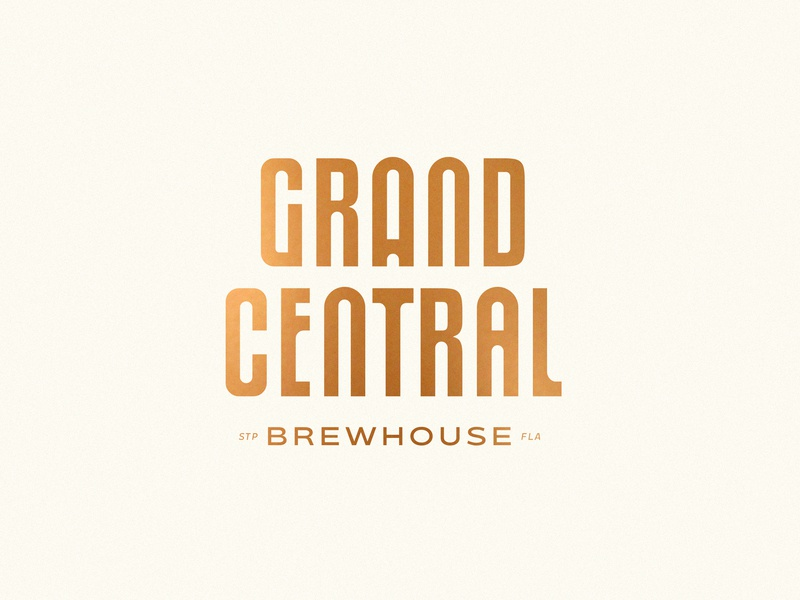 GCB Logo Lockup logotype tampa florida vintage bauhaus geometric primary colors typography lockup asset st pete grand central lager german european hops brewery brew heart beer