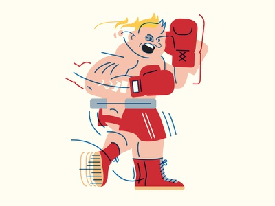 Comin' Out Swinging punch swing game face hello boxing abstraction motion boxer