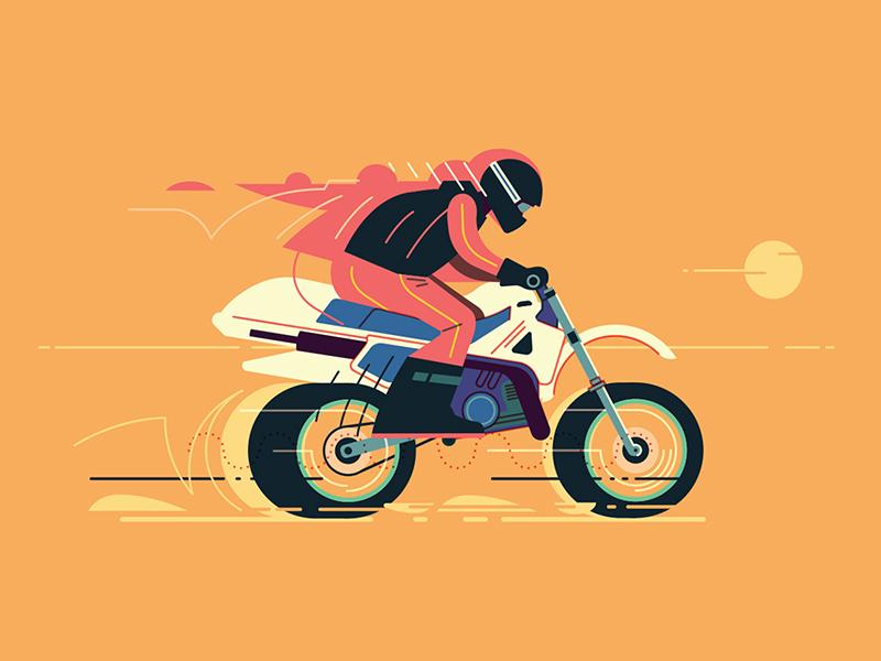 Salt Lake Racer motion speed biker sunset salt lake desert motorcycle