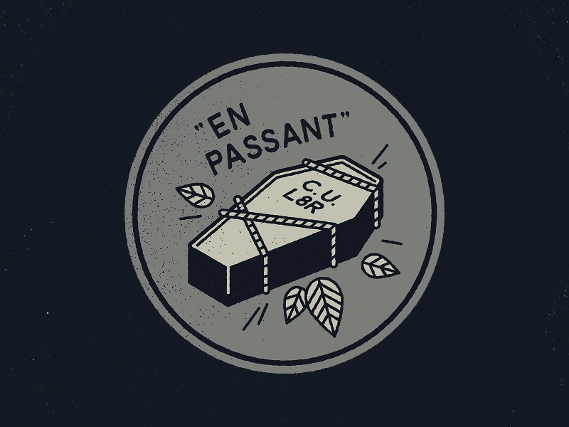En Passant - C.U.L8R buried dead drawing vector badge en passant cul8r death coffin