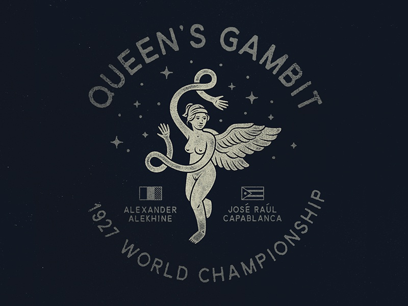 Queen's Gambit texture vector stars gambit queen badge chess