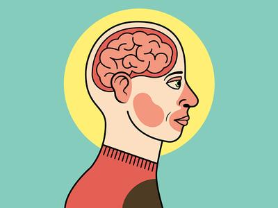 Anatomy-ish vector profile anatomy face brains