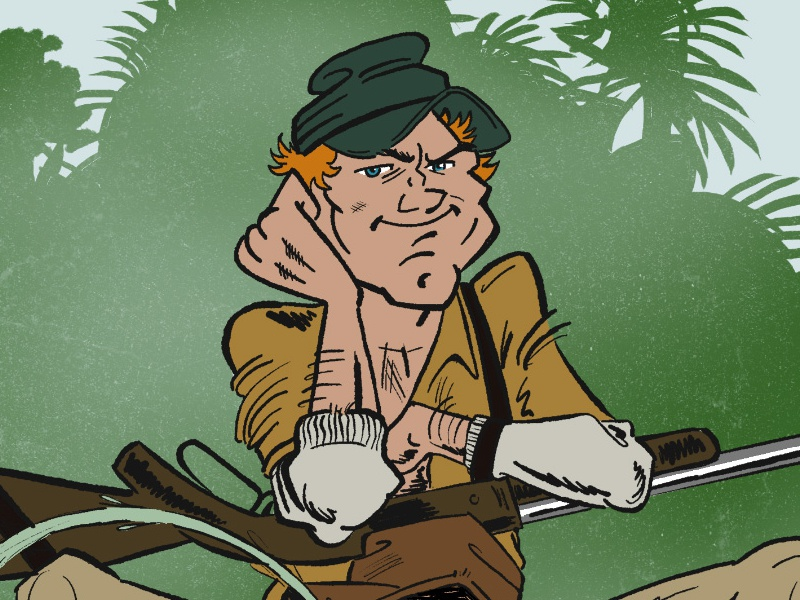 Terence Hill Comic Style terence hill cartoon comic illustration