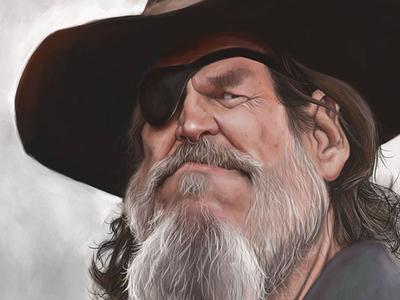Jeff Bridges Caricature jeff bridges digital painting drawing caricature