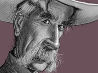 Sam Elliott Caricature