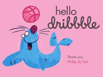 Hello Dribbble photoshop debut hello dribbble illustration