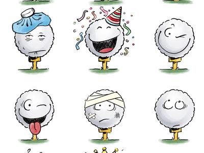 Peak of my Golfball Stickers stickers