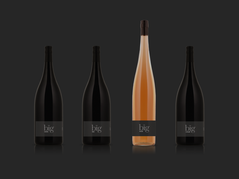 The big One – Wine Brand Identity wine bottle wine label corporate design logo branding brand design