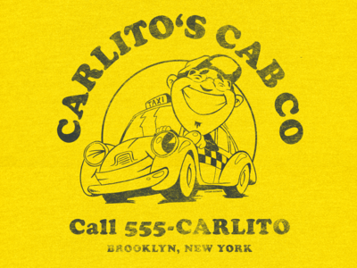T-Shirt Design Carlito's Cab Co.