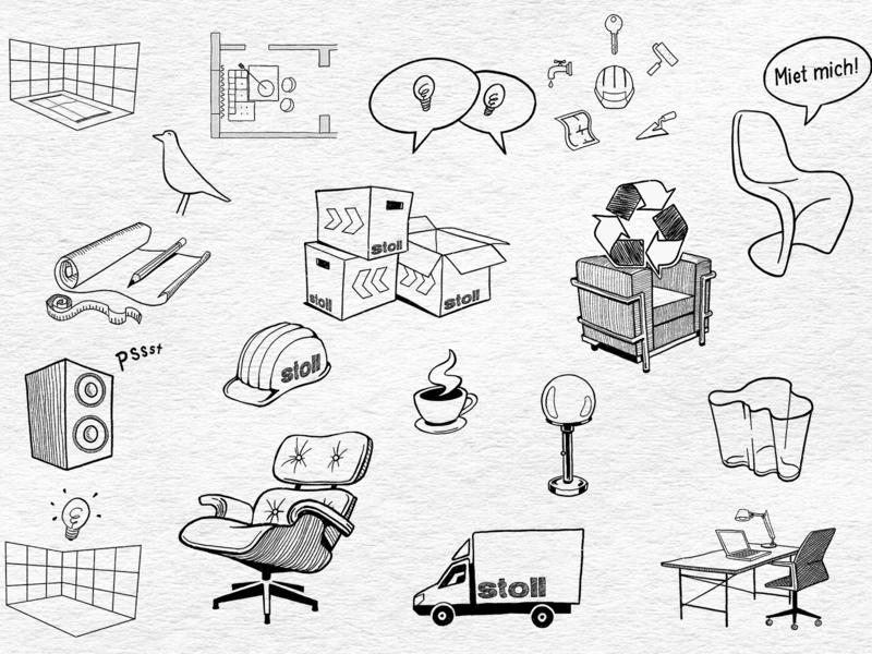 Doodles Design furniture furniture design design doodles illustration