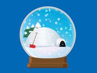 Igloo Snow Globe