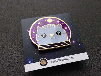 Space Cat Enamel Pin