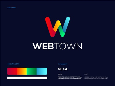 Webtown - Logo Design + Brand Identity website illustrator ux ui web typography illustration logo design branding