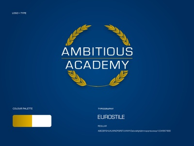 Ambitious Academy - Logo Design + Brand Identity web ux ui illustrator website typography illustration design logo branding